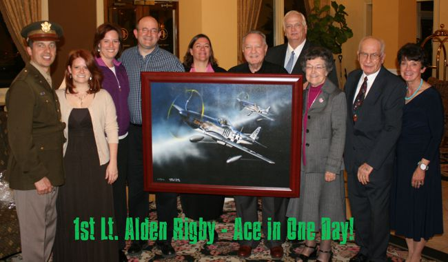 1st Lt. Aldon Rigby - Ace in One Day!